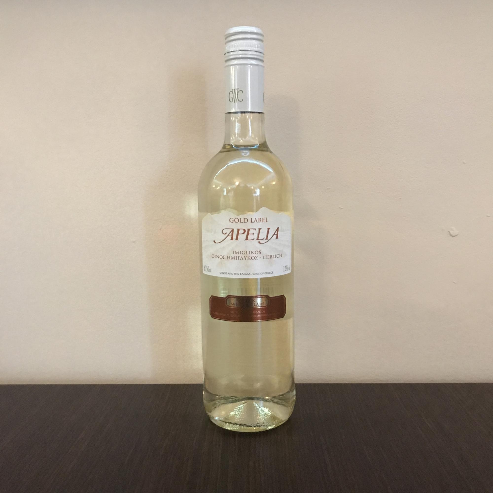 Grieche-Wedel-Taverna-Plaka-Wein-Apelia-Gold-Label-Vorderseiteite