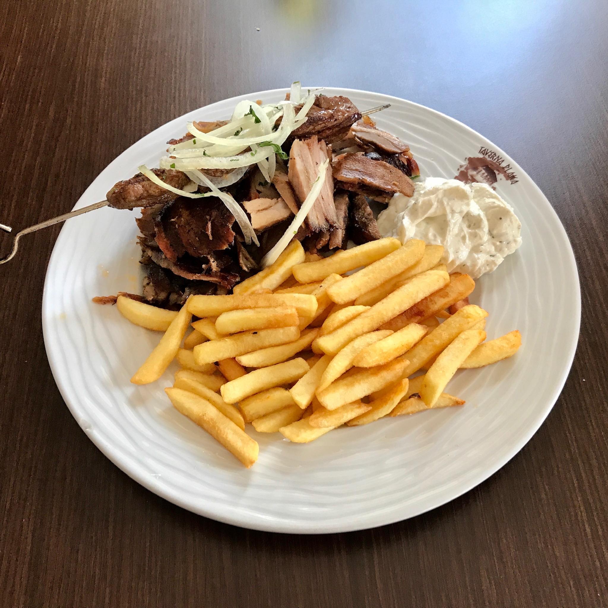 Grieche-Wedel-Taverna-Plaka-Samos Teller
